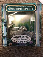"Whispering Fine Pewter Winds Genuine Handcrafted Pewter Windchime Bracket ""Lab"""