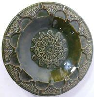 Vintage Rare Large Round Mid - Century Retro Ceramic Ashtray Mad Men Style