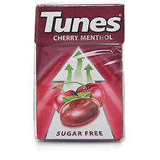 10x new Packets of Tunes Cherry Menthol Sugar Free Cough & Throat sweets 37g 12P