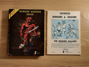 Advanced Dungeons & Dragons (AD&D 1e) Dungeon Masters Guide + The Rogues Gallery