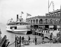 Photograph of the Steamship Ferry Garland Detroit Belle Isle Year 1906c 11x14
