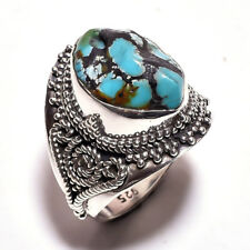 ANELLO DONNA ARGENTO 925 RING SILVER STERLING TURCHESE GREZZO RAW TURQUOISE 25