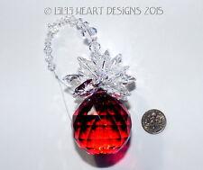 m/w Swarovski 40mm HUGE RED Christmas Pineapple Suncatcher Lilli Heart Designs