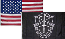 3x5 Wholesale Combo USA American & Army Special Forces Liber Flag 3'x5' 2 Pack