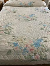 """New listing Vintage Mid Century Look Quilted Bedspread 95"""" x 105"""""""