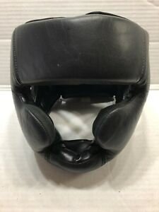 Headgear Boxing MMA Combat Sports Black Size Large For Sparring