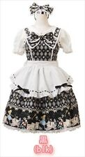 Bodyline Lolita Set Maid Costume Alice Black JSK Dress Apron Size M New Free