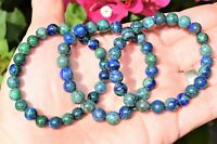Premium CHARGED Chrysocolla Crystal 8mm Bead Bracelet Stretchy ENERGY