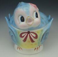 VINTAGE LEFTON BLUE BIRD BLUEBIRD COOKIE JAR #289