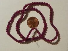Ruby 65 Carats Loose Beads String 3 to 6 MM. Round 16 Inches