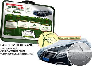 Telo Copriauto Felpato Peva e Cotone con Zip Apertura Porta Bmw S3 Gran Turismo