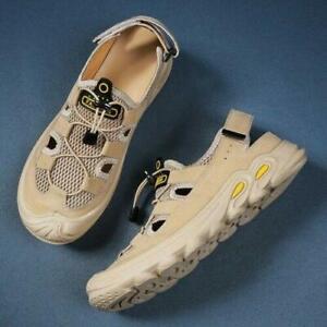 Roman Hollow Out Lace Up Flats Beach Casual Sandals Men's Outdoor Sport Shoes SZ