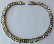 VINTAGE WEISS SIGNED CLEAR CHANEL RHINESTONE NECKLACE