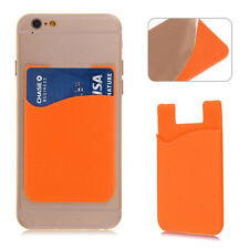 Silicone Mobile Phone Wallet Card Silicon Stick On Cash Credit Opal Card Holder