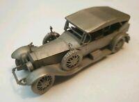 Danbury Mint Rolls Royce 1923 Springfield Silver Ghost Pewter Model