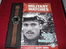 Eaglemoss los relojes militares-número 18-Egyptian Naval Commando Reloj 1950.
