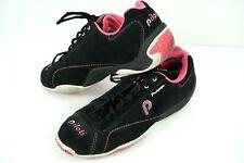 Womens Piloti Prototipo Driving Shoes Black Pink Lace Up Size: 7