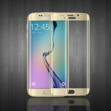Tempered Glass Protector 3D full Screen Cover for Samsung Galaxy S6 Edge Gold