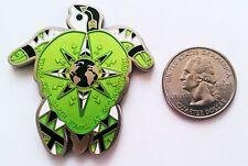 ☆ Earth Turtle 2008 Geocoin LE Green Tsun Children Compass Rose Unactivated
