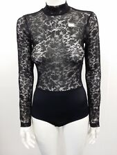 EX MARKS & SPENCER LIGHT CONTROL LACE BODY SIZE 8 BLACK