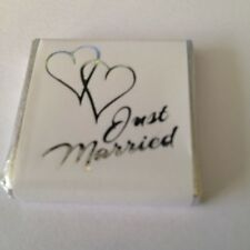 100 Milk Chocolate Wedding Favours - Just Married