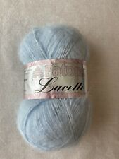 New ListingPatons Lacette yarn - 1 Ball / Nylon, Acrylic, Mohair Color # 30128 - Blue