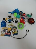 Beyblades and launchers three with lights