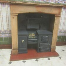 1/12 scale Dolls House, Built-in kitchen range Wood effect surround  KRB3F wood