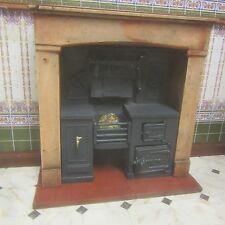 1/12 scala casa delle bambole, Built-in cucina gamma effetto legno Surround KRB3F legno