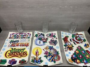 Vintage Static Cling Christmas Kit Window Decorations Super Signs Free Shipping