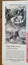 1950 Imperial Glass Cape Cod Crystal Bowl salt pepper picture plate creamer ad