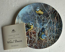 "Coalport plate "" Winter Bluetit "" by David Feather Frosty Mornings Collection"