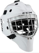 New CCM 1.5 goal junior ice hockey goalie helmet white size Jr kids sz face mask