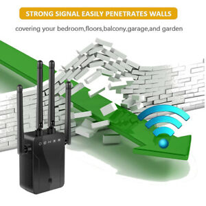 1200Mbps WiFi Range Extender Repeater Wireless Amplifier Router Signal Booster