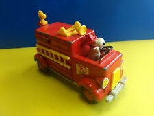 Collectible Aviva Toy Co. Snoopy And Woodstock No. 1 Fire Department Truck Toy