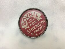 VINTAGE BOVRIL BEEF GLASS METAL ADVERTISING POCKET MIRROR STRENGTH AND ENERGY