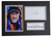 Ranulph Fiennes Signed Autograph A4 photo display Mount Everest AFTAL & COA