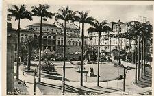Brazil Brasil Sao Paulo - Teatro Municipal e Hotel Esplanada real photo postcard