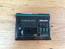 Retro philips Stereo Cassete Player personal stereo D6668/05 Graphic Equalizer