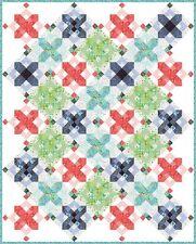 Snowflakes QUILT KIT // Quilt Pattern + Moda Hazelwood Fabric