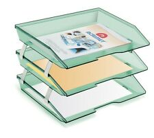 Tray Letter Storage Desk File Document Paper Office School Facility Triple 3Tier