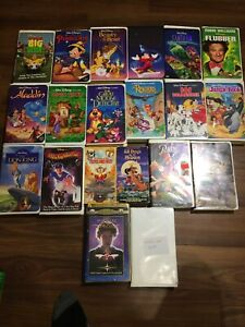 Various VHS Movies -  14 Disney Movies , 6 MGM ( See List & Photos ) Lot Of 20
