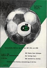 DDR-Liga 87/88 ZEPA Química Buna Schkopau-Sajonia anillo Zwickau, 01.04.1988