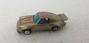 Vintage Unbranded PORSCHE 911 #672 Gold Die-cast car Zylmex Yatming Summer? HK