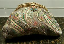 Vintage seed bead purse made in france beautiful