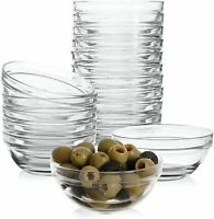"6 Pack Mini 3.5"" Glass Bowls for Kitchen Prep, Dessert, Dips, and Candy Dishes"