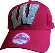 best sneakers 2f042 700b8 Wisconsin Badgers Women s Glitter Glam 2 Adjustable New Era 9FORTY Hat - NEW