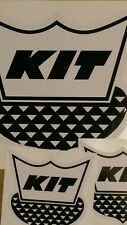 "KIT vintage Travel Trailer Decal black & white set of 3 1-12"" & 2-6"""