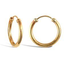 9CT GOLD GENTS SINGLE 15MM HOOP CAPPED EARRING Erin Rose Jewellery Co