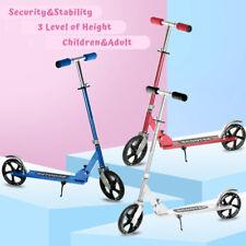 Folding Kick Scooters Aluminum Adult Kids Portable Adjustable Big Wheels 3 Color